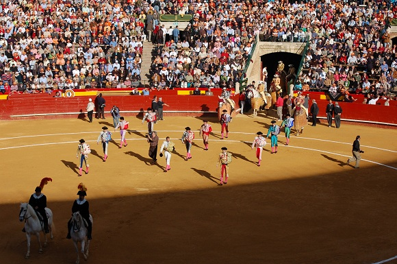 The opening parade, the 'paseíllo'